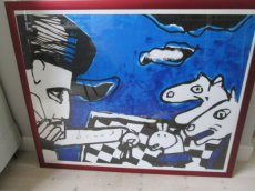 Zeefdruk Chess Herman Brood
